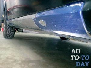 Как выпрямить порог на автомобиле в домашних условиях 18