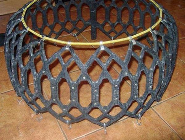 Резиновые цепи на колёса своими руками 96