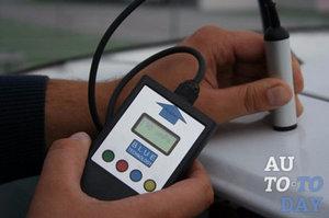Измеряем толщину лакокрасочного покрытия