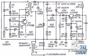 Схема блока многоискрового зажигания