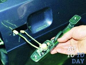 Замена личинки двери авто