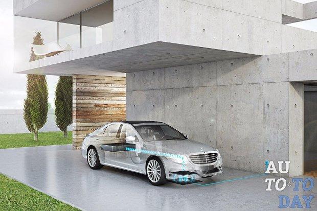 Mercedes S550e получит беспроводную зарядку своих батарей