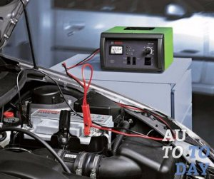 Процес зарядки аккумулятора