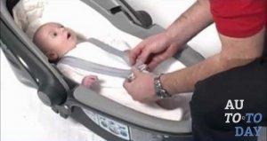 Горизонтальное положение ребенка в автолюльке