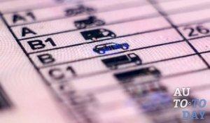 Категории водительских прав с 2015 года