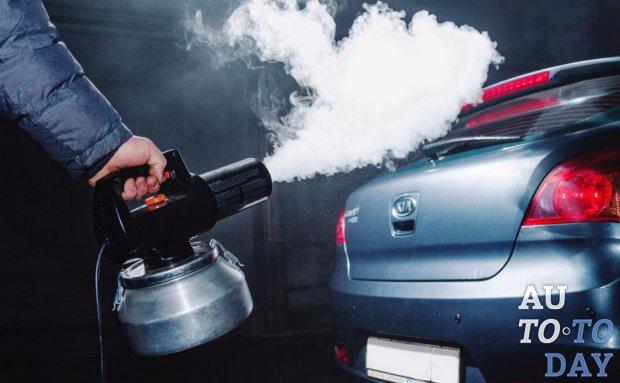 Применение сухого тумана для авто