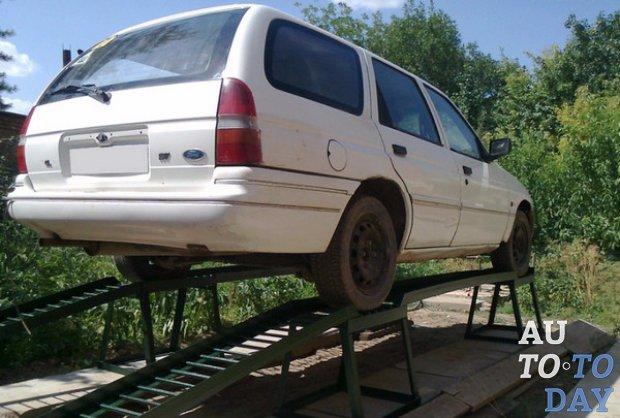 Авто на эстакаде