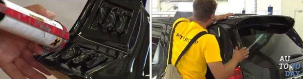 Как установить спойлер - чистое стекло - на Renault Duster?