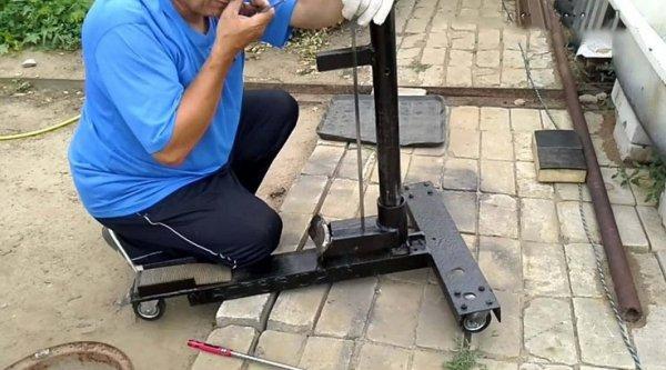 Разбортовка колеса самодельные приспособления чертеж 112