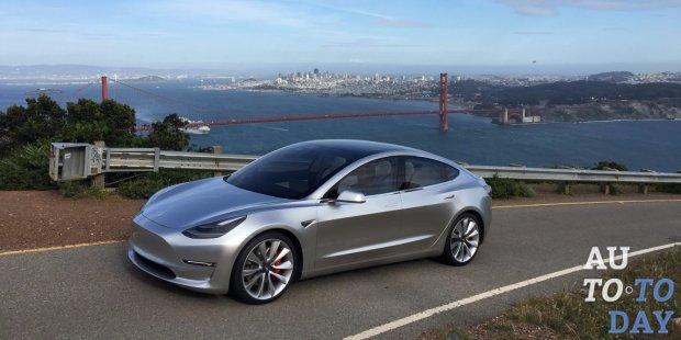 Электромобиль Tesla Model 3 получит около 100 комплектаций