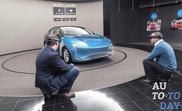 Очки отMicrosoft помогут дизайнерам Форд проектировать автомобили