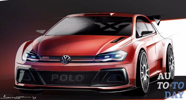 Volkswagen показал свой новый гоночный хэтчбек Polo GTI R5