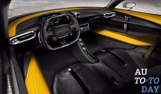 Hennessey презентует интерьер суперкара будущего Venom F5 из карбона