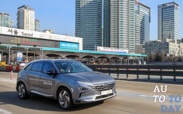 Водородный Hyundai оснастили караоке и беспилотником