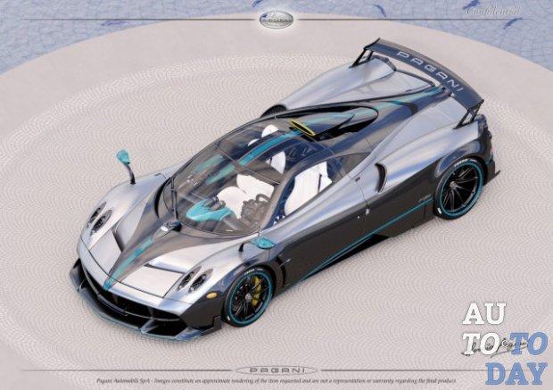 Последний Pagani Huayra оформят встиле болида F1 Льюиса Хэмилтона