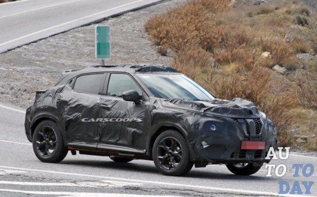 Новый Nissan Juke засветился во время испытаний