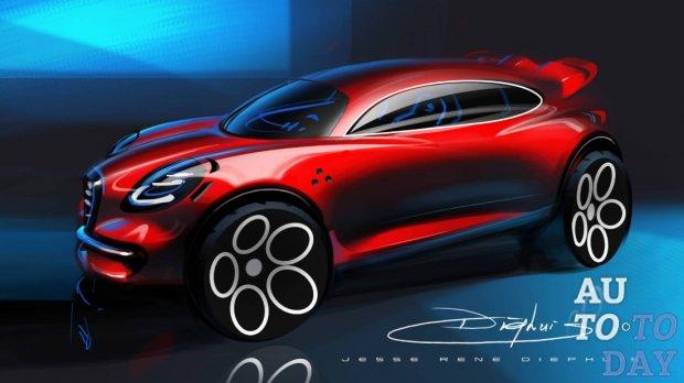 На фото показали альтернативный компактный внедорожник Alfa Romeo Stella
