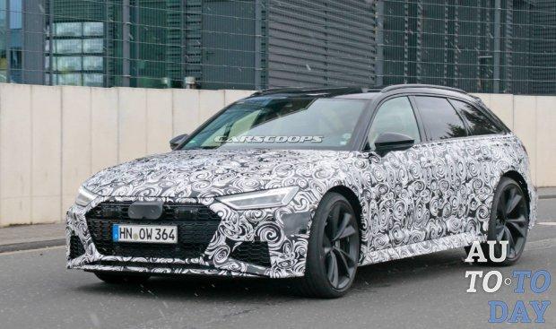 Новый Audi RS6 Avant показался на испытаниях с минимальным камуфляжем