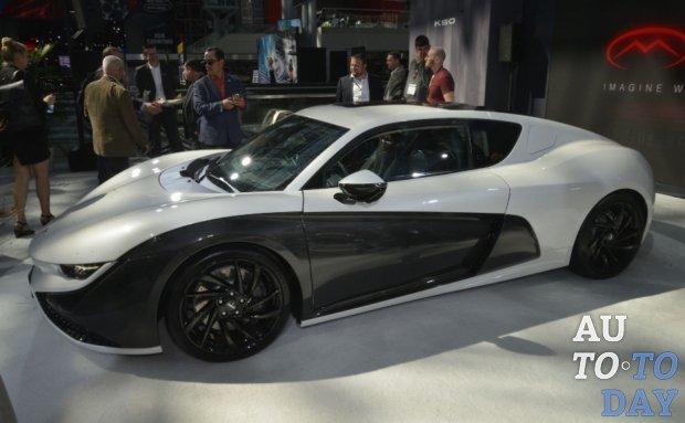 Автосалон в Нью-Йорке: электрический суперкар Qiantu K50 официально дебютировал