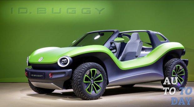 Автосалон в Нью-Йорке: Volkswagen показал яркий внедорожник ID Buggy Concept