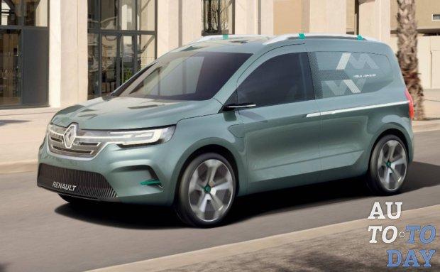 Renault представляет компактный фургон следующего поколения Kangoo ZE Concept