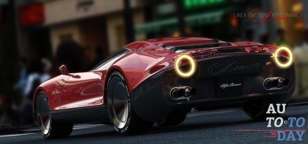 Купе Alfa Romeo LEA Concept объединяет ретро и современный стиль