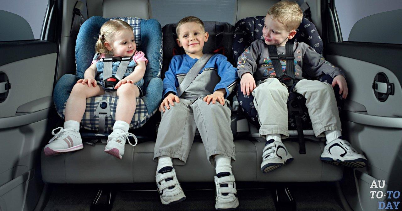 Перевозка детей в автокреслах