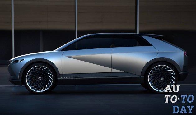 Франкфуртский автосалон-2019: Hyundai 45 EV Concept переносит дизайн прошлого в будущее