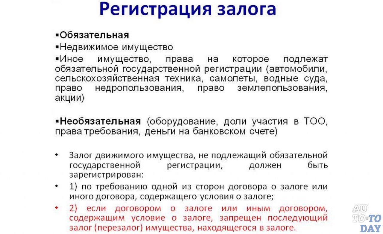 Обязательна ли регистрация договора залога автомобиля наличие автосалонов фольксваген в москве