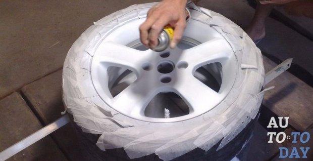 Покрасить диски своими руками в черный цвет