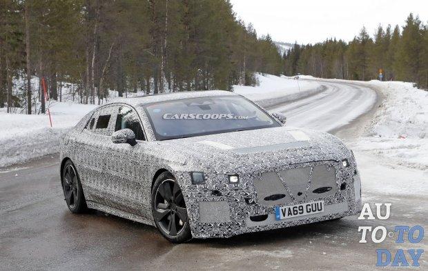 Электрический Jaguar XJ заметили на испытаниях
