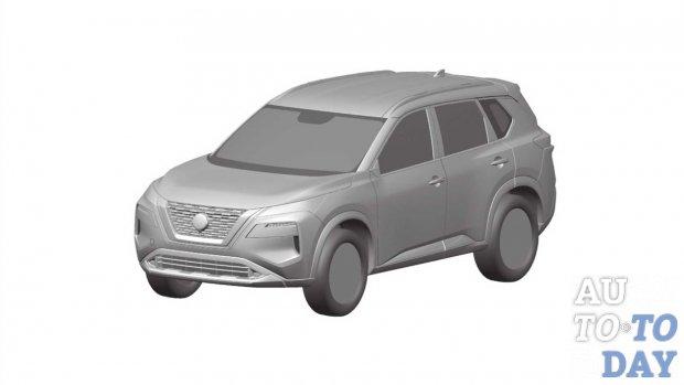 Новый Nissan Rogue засветился на патентных снимках
