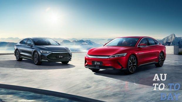 BYD представил новый гибридный седан Han для китайского рынка