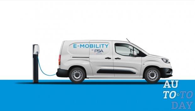 Группа PSA в 2021 году запустит три электрических коммерческих фургона